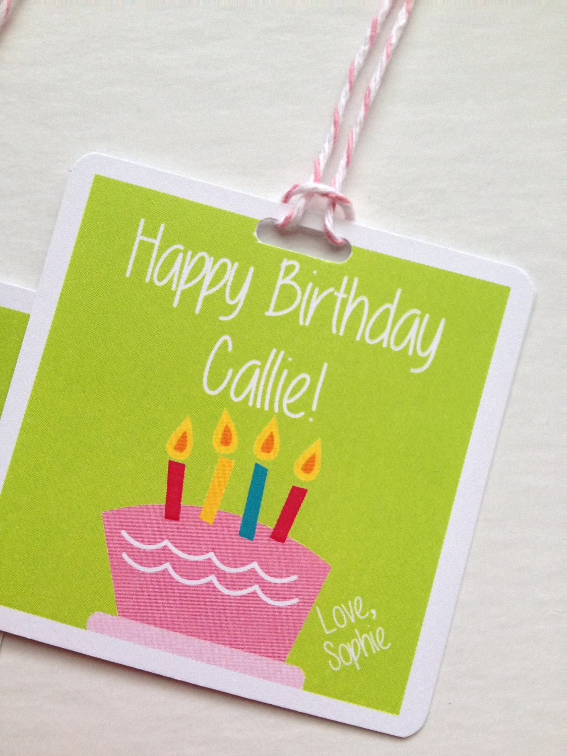 Custom Gift Tags Personalized Gift Tag Custom Gift Tag Birthday ...