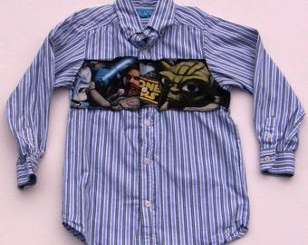 Upcycled Star Wars Shirt, Boy Size 6/7