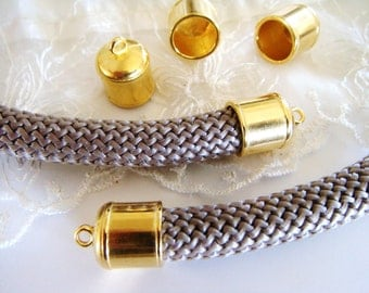 Gold End Caps 10,3mm for Cord 10mm- Pk2