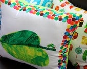 Single Leaf Caterpillar with Green Backing--Ready to Ship--