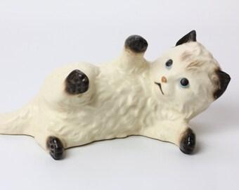 Hagen Renaker GLITTER Persian Cat - Ceramic Figurine