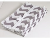 Flannel Hankies Ultra Soft Handkerchiefs set of 12 an even dozen gray and white chevron