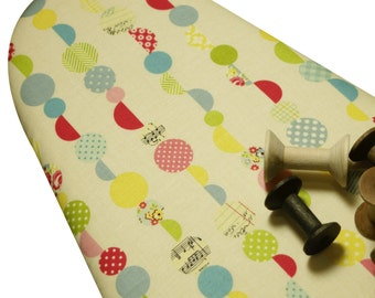 Ironing Board Cover Custom iron board cover Design ironing cover Riley Blake Sidewalks vintage look cream fabric select the size