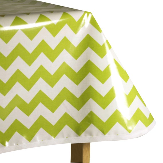 laminated cotton oilcloth tablecloth lime green and white. Black Bedroom Furniture Sets. Home Design Ideas