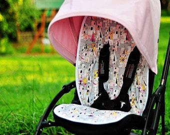 Personalized Reversible Stroller Pad Liner - - - Made to Order - - -