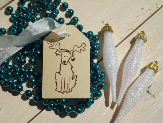 Charity Dressed Up for The Holidays  Olive Wood Stamp