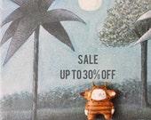 Wild thing boy - Maurice Sendak inspired - Where the wild things are - Paper clay miniature art