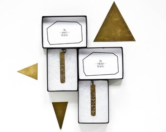 ALWAYS & FOREVER : His and Hers Braille Necklaces in Brass - Set of 2