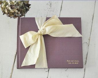 Wedding Album - Wedding Guest Sign in - Silk Dupioni Bow by Claire Magnolia