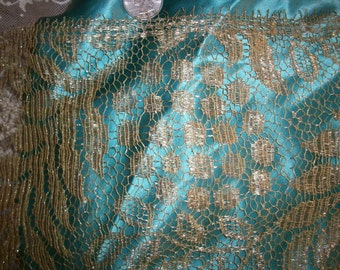 """antique french gold lace trim 9"""""""