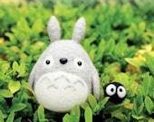 DIY handmade felt wool Totoro --- English kit package (English / Beginner)
