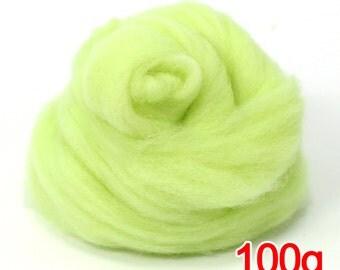100g Super Fast felting Short Fiber Merino Wool Perfect in Needle Felt Melon V209