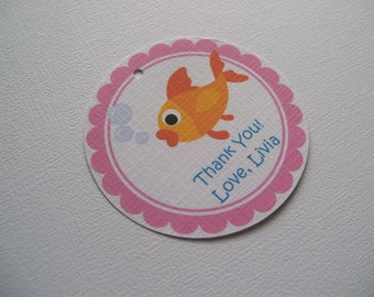 Goldfish girl gift tags