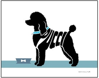 Personalized Standard Poodle Art Print, Custom Poodle Print, Dog Lover's Gift, Dog Memorial Gift