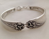 Spoon Bracelet. Size 6 to 9 Inch Wrist. Choose Your Size. Daffodil Vintage Silverplate.