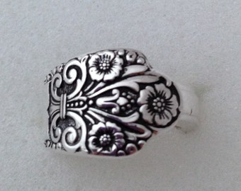 Spoon Ring Precious 1941 Size 5 to 12 Choose Your Size  Vintage Silverplate Silverware Jewelry