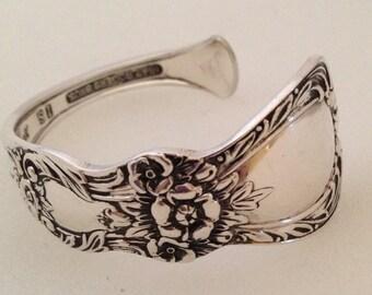 Spoon Bracelet. Cuff Bracelet. Heritage Spoon Jewelry. Silverware Jewelry. Silver Bracelet.