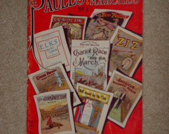 "Vintage Book 1932 Sheet Music Book "" E.T. Paul's Folio of "" Famous Marches """