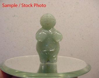 Carved Aventurine Stone Fertility Goddess Miniature Figurine, Birth  17T169