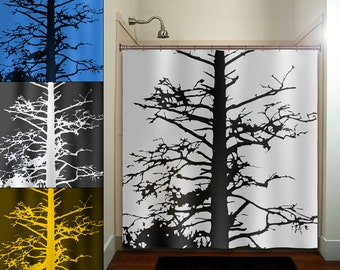 custom any color dead gnarly branches tree shower curtain bathroom decor fabric kids bath window curtains