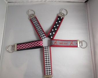 Collegiate Wristlet - Black, White, Crimson, Alabama, Texas A&M