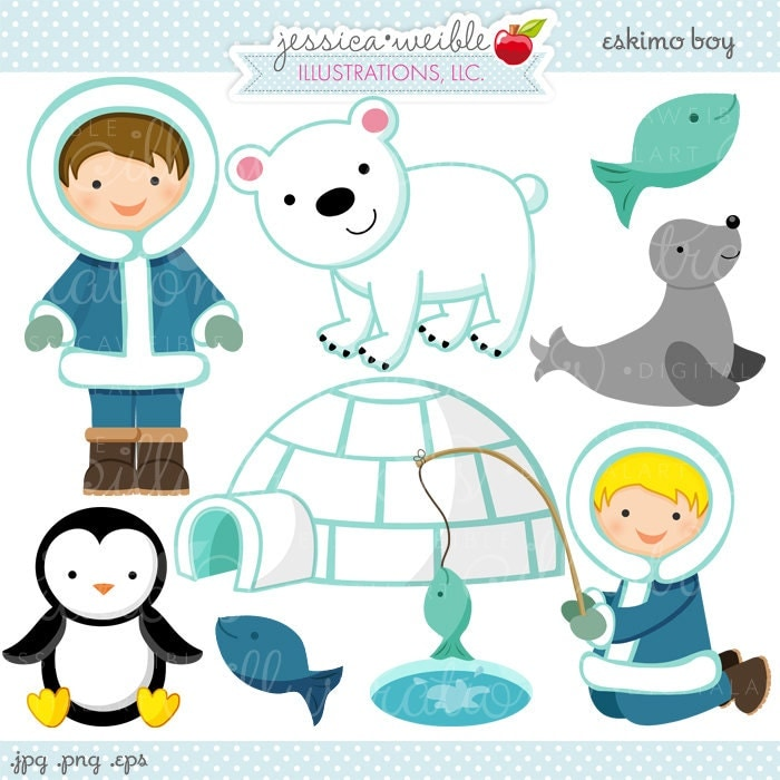 Clip Art Eskimo Clipart eskimo clipart etsy boy cute digital commercial use ok graphics igloo fishing