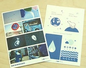 Save Green Planet Photo & Graphic Stickers - 2 sheets (3.9 x 5.9in)