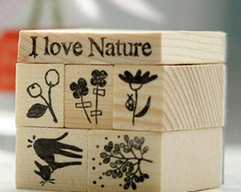 6 Set - Stamps Holic by Nature (2 x 2in)
