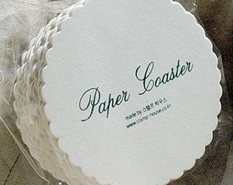 30 Hard Papers for Making Coasters - Wave (3.5in)