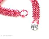 barbie envy . hot pink bracelet . swarovski crystal bracelet . pink . bright pink . gift idea .