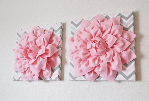 Pink Wall Decor 3d wall art picture canvas two wall decor baby pink