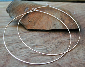 Extra large gold hoop earrings, thin gold hoops