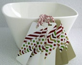Price Slashed - Christmas Gift Tags Handmade 8 Assorted Hanging Tags Kraft Christmas Tags