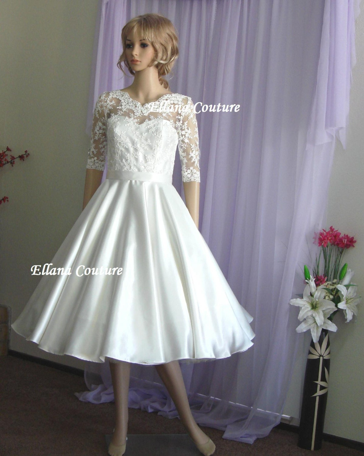 Julia Vintage Inspired Wedding Dress. Retro Style Bridal