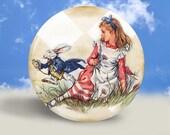 Alice in Wonderland - Pocket Mirror, Magnet, or Pinback Button - 2.25 Inches