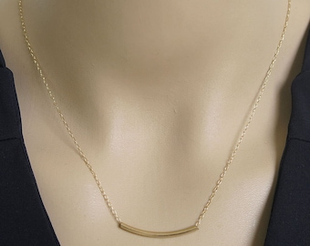 bar necklace, gold necklace, gold bar necklace,simple bar, tube necklace,friendship necklace,dainty necklace,thin necklace,layering necklace