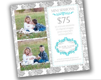 INSTANT DOWNLOAD - Photography Marketing board - 5x5 Newsletter template - 0832