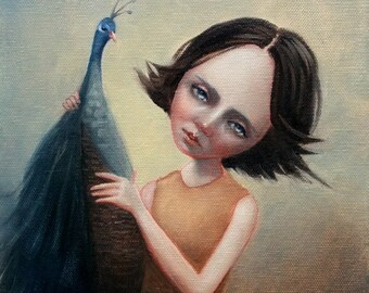 Companion. Signed Art Print of an Original Surreal Oil Painting