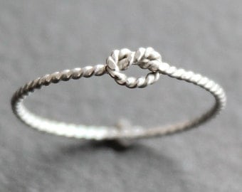 Small Knot Ring - Twisted Wire- Argentium Sterling Silver