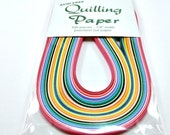"Quilling Paper, Multi Colors, 100 strips, 1/8"" wide"