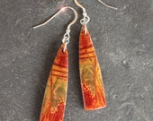 Natures Picasso - Carved Picasso Jasper Sterling Silver Earrings