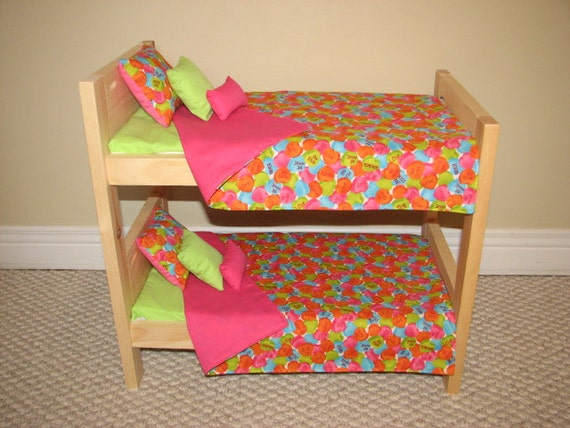 american girl doll bunk bed bedding set be mine candy hot. Black Bedroom Furniture Sets. Home Design Ideas