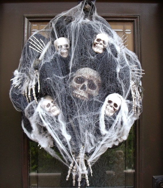 Sinister Halloween Wreath Skull Wreath Skull and by ...