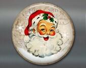"3.5"" vintage christmas fridge magnet, vintage santa ornament, santa christmas decoration, kitchen decor, large magnet MA-1338"