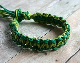 Surfer Macrame Hemp Bracelet Green Limegreen Woven Knot Friendship Bracelets