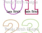 Birthday Numbers Applique Design Machine Embroidery Font BLOCK INSTANT DOWNLOAD 1 2 3 4 5 6 7 8 9 0