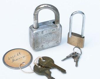 Master Padlock Lion Head Brass Lock with Keys