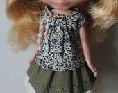 Top and skirt set for blythe