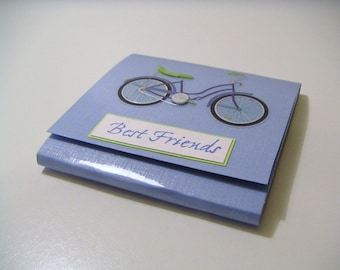 Blue Bicycle Sticky Notes Pad - Best Friends