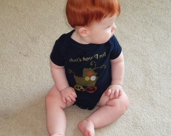 Steampunk Baby Bodysuit onesie with Stroller Gears That's How I Roll